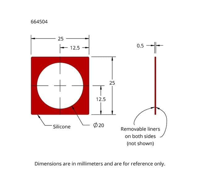Drawing of Press-to-Seal Silicone Isolator