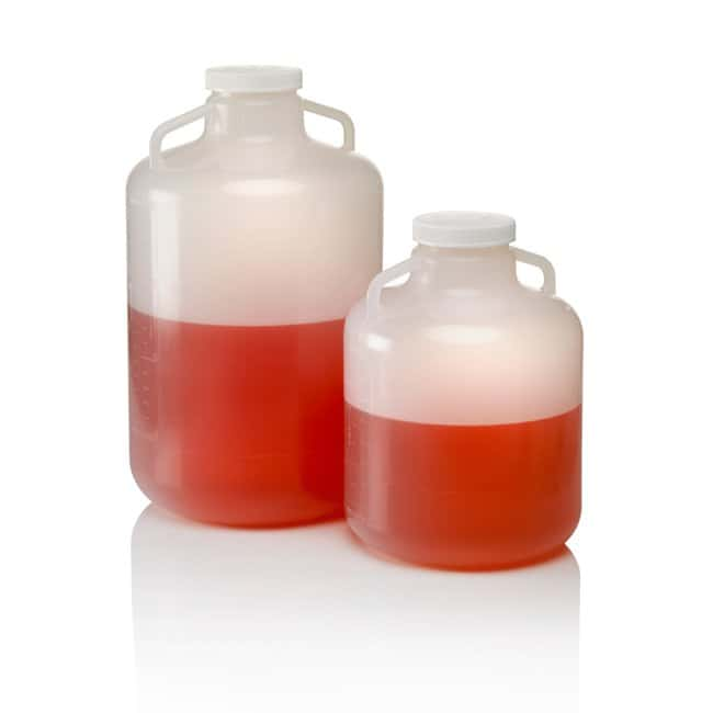 Nalgene™ Polypropylene, Wide-Mouth Carboy with Handle