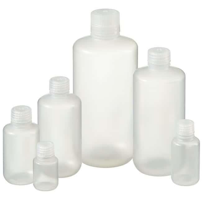 Nalgene™ Narrow-Mouth PPCO Packaging Bottles with Closure: Bulk Pack
