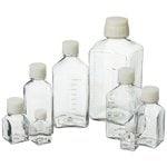 Nalgene™ Square PETG Media Bottles with Closure: Sterile, Shrink-Wrapped Trays