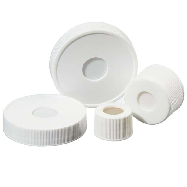 I-Chem™ Open-Top Septa Caps, 24-414mm, bonded septa, bulk