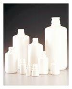 Nalgene™ Boston Round Opaque White HDPE Bottles without Closure: Bulk Pack