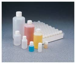 Nalgene™ Narrow-Mouth HDPE Packaging Bottles with Closure: Sterile, Shrink-Wrapped Trays
