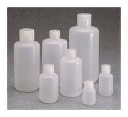 Nalgene™ Boston Round Narrow-Mouth LDPE Bottles with Closure: Bulk Pack