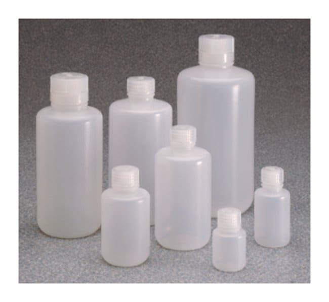 Nalgene™ Boston Round Narrow-Mouth LDPE Bottles with Closure: Bulk Pack