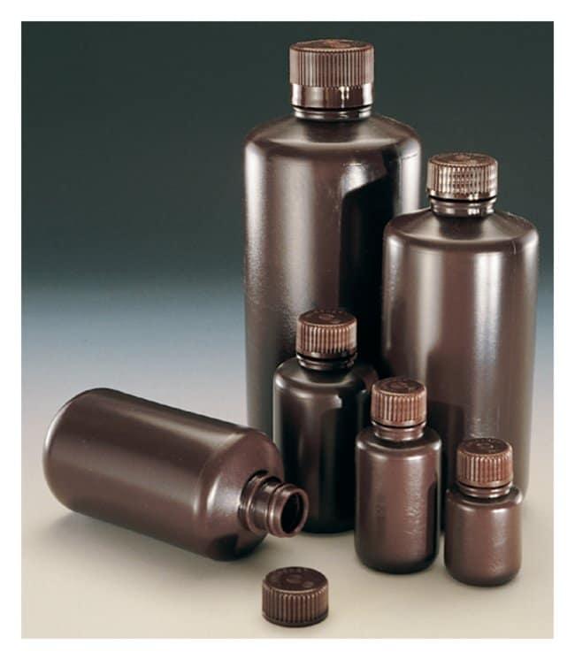 Nalgene™ Narrow-Mouth Amber HDPE Economy Bottles