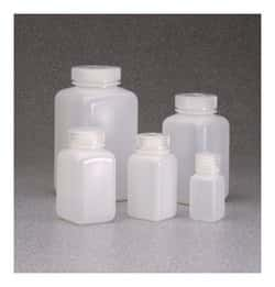Nalgene™ Square Wide-Mouth HDPE Bottles with Closure