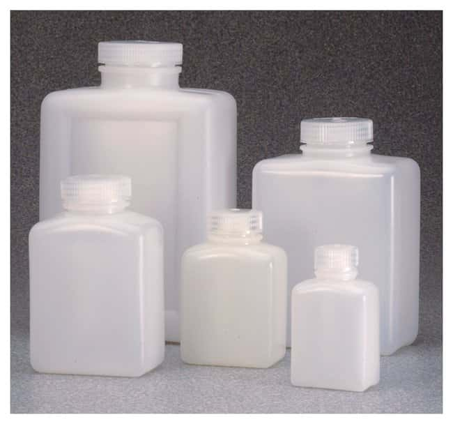 Nalgene™ Rectangular HDPE Bottles with Closure: Bulk Pack