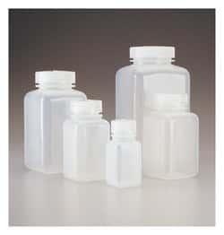 Nalgene™ Square Wide-Mouth PPCO Bottles with Closure