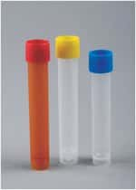 Capitol Vial  10mL and 12mL Threaded Transport Tubes with Pre-Assembled Screw-Caps