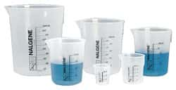 Nalgene™ Polypropylene Griffin Low-Form Plastic Beakers