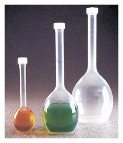Nalgene™ Class B Polymethypentene (PMP) Volumetric Flasks with Screw Caps