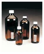 I-Chem™ Boston Round Narrow-Mouth Amber Glass Bottles with Closure