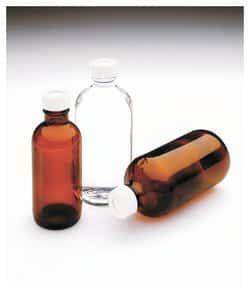 Narrow-Mouth Glass Septa Bottles with Open-Top Closure