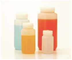 Nalgene™ Fluorinated Wide-Mouth HDPE Bottles with Closure