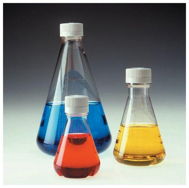 Nalgene™ Single-Use PETG Erlenmeyer Flask with Baffled Bottom: 멸균