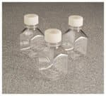 Nalgene™ Square PETG Media Bottles with Septum Closure: Sterile, Shrink-Wrapped Trays