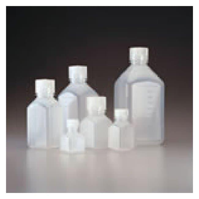 Nalgene™ Square Natural PPCO Graduated Bottles with Closure: Bulk Pack