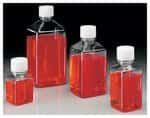 Nalgene™ Square PET Media Bottles with Closure: Sterile, Shrink-Wrapped Trays
