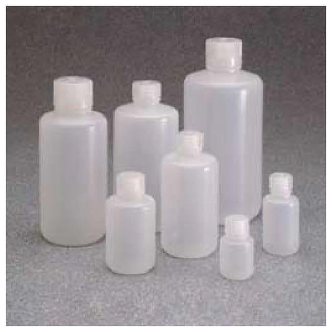 Nalgene™ Boston Round Narrow-Mouth Natural PPCO Bottles with Closure: Bulk Pack