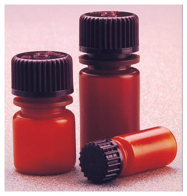 Nalgene™ Translucent Amber HDPE Diagnostic Bottles with Closure: Bulk Pack