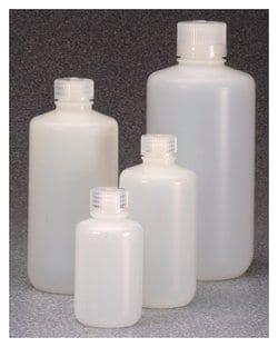 Nalgene™ Fluorinated Narrow-Mouth HDPE Bottles with Closure