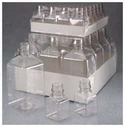 Nalgene™ Square PET Media Bottles without Closure: Sterile, Shrink-Wrapped Trays
