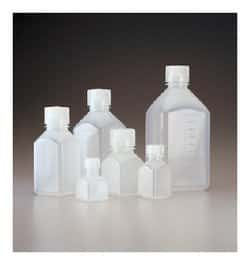 Nalgene™ Square Narrow-Mouth PPCO Bottles with Closure