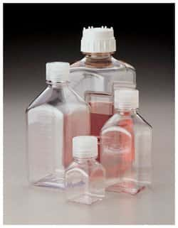 Nalgene™ Square Polycarbonate Bottles with Closure