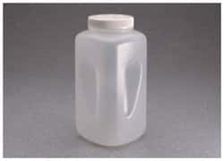 Nalgene™ Large Square Wide-Mouth HDPE Bottle with Closure