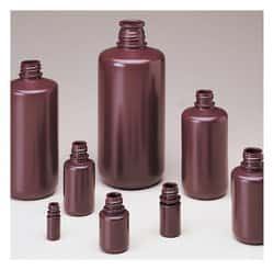 Nalgene™ Narrow-Mouth Opaque Amber HDPE Packaging Bottles without Closure: Bulk Pack