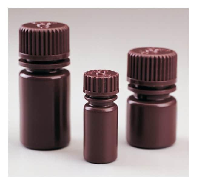 Nalgene™ Opaque Amber HDPE Diagnostic Bottles with Closure: Bulk Pack