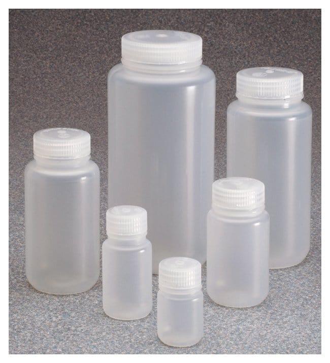 Nalgene™ Wide-Mouth PPCO Bottle with Closure: 대량 패키지, 고압살균 가능