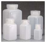 Nalgene™ Square Wide-Mouth HDPE Bottles with Closure: Bulk Pack