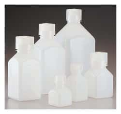 Nalgene™ Square HDPE Graduated Bottles with Closure: Bulk Pack