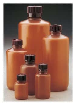 Nalgene™ Narrow-Mouth Translucent Amber HDPE Packaging Bottles with Closure: Bulk Pack