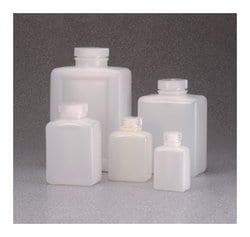Nalgene™ Rectangular HDPE Bottles with Closure