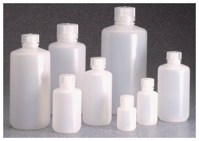 Nalgene™ Boston Round Narrow-Mouth HDPE Bottles with Closure: Bulk Pack