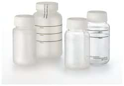 Screw-Top Sterile Coliform Water Sample Bottle: Polystyrene, Polyethylene and Polypropylene