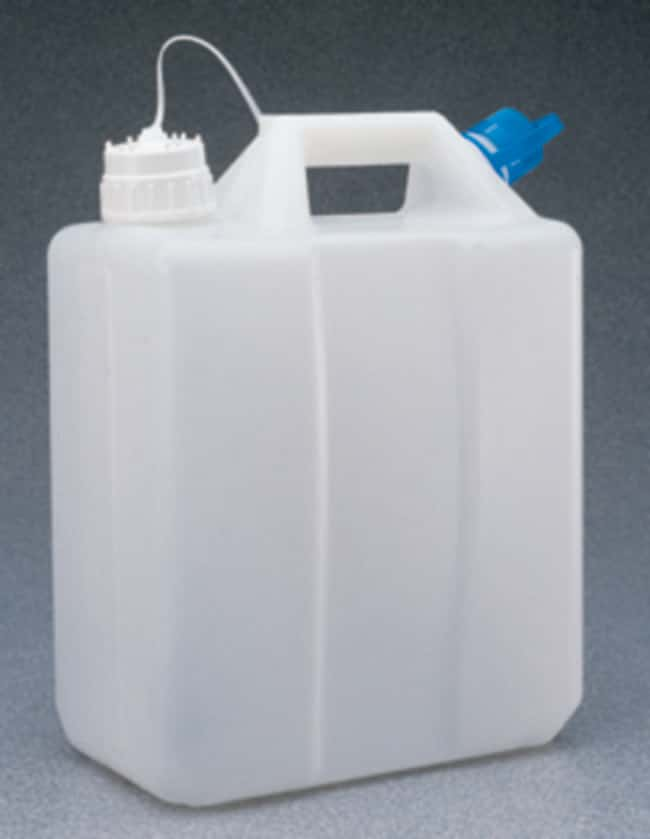 Nalgene™ HDPE, Jerry Can with Tethered Polypropylene Closure (Single Port)