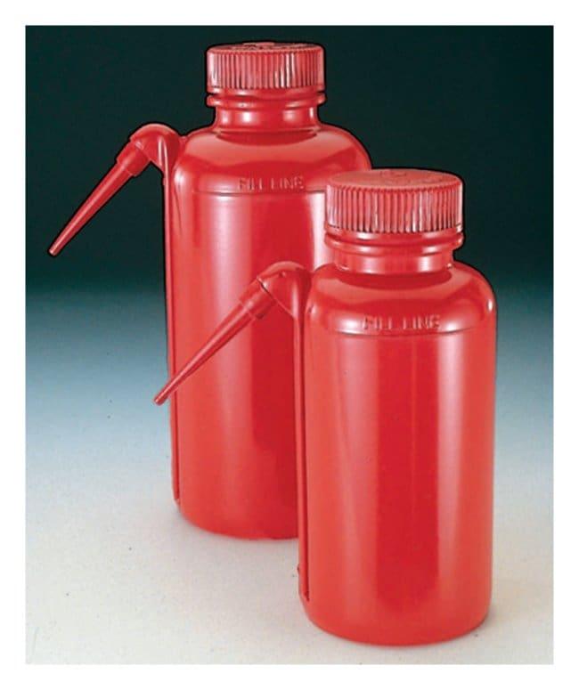 Nalgene™ Unitary™ Red LDPE Safety Wash Bottles