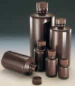 Nalgene™ Narrow-Mouth Amber HDPE Lab Quality Bottles