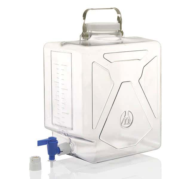 Nalgene™ Rectangular Polycarbonate Clearboy™ Carboy with Spigot