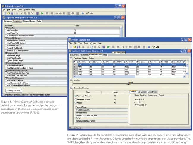 Figure 1: Primer Express® Software Parameters