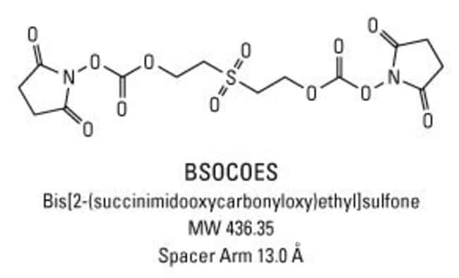 Chemical structure of BSOCOES crosslinking reagent