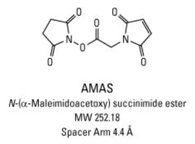 Chemical structure of AMAS crosslinking reagent