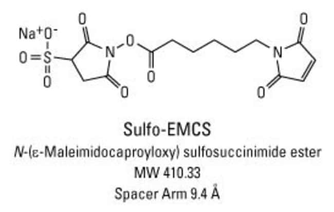 Chemical structure of Sulfo-EMCS crosslinking reagent