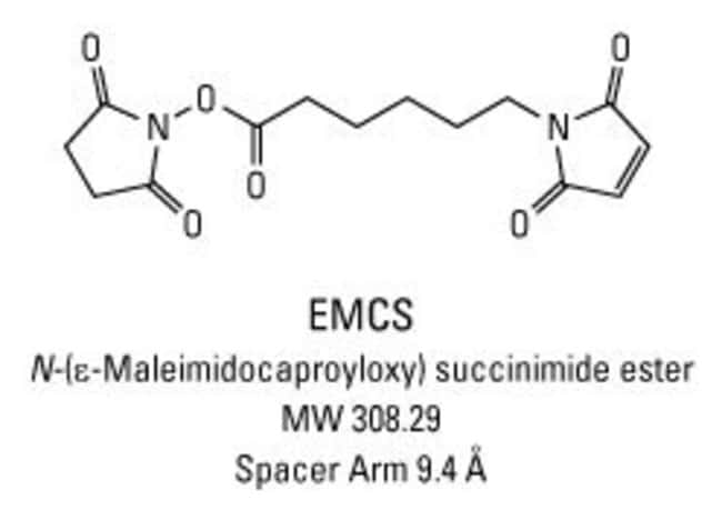 Chemical structure of EMCS crosslinking reagent