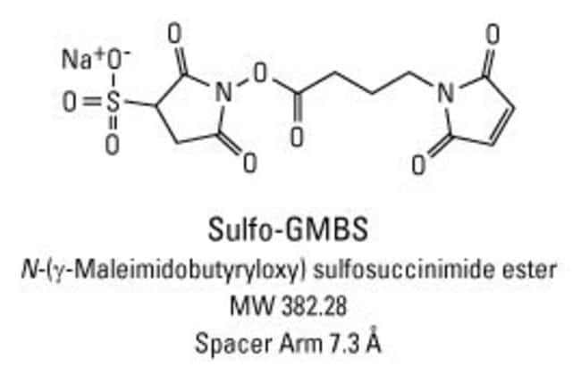 Chemical structure of Sulfo-GMBS crosslinking reagent