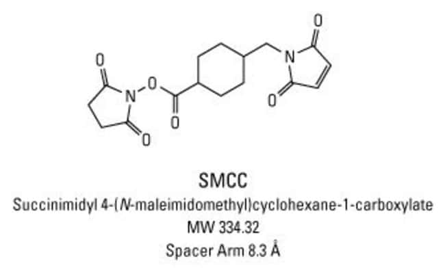 Chemical structure of SMCC crosslinking reagent